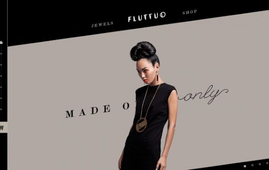 Fluttuo - Made Once Only - One-off jewels handmade in Italy - Webdesign inspiration on www.niceoneilike.com