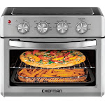 CHEFMAN - 25L Toaster Oven Air Fryer - Stainless Steel