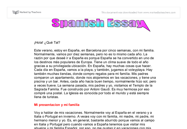 thesis statement in spanish