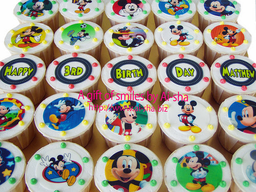 Birthday Cupcakes Edible Image Mickey Mouse