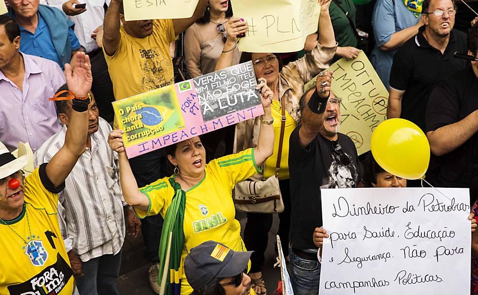 Protesto Contra a presidente Dilma e o PT