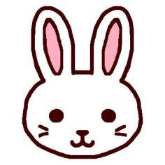 ウサギうさぎ1カラー陸の動物の無料イラストミニカットクリップ