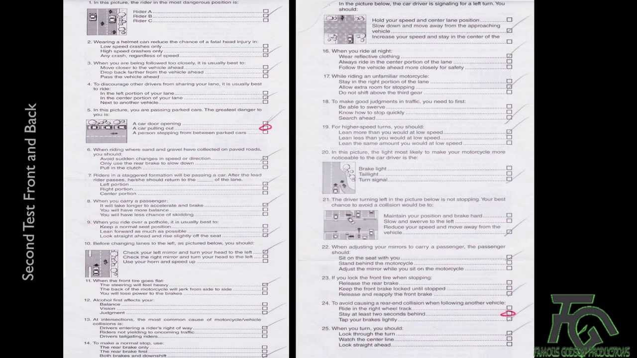 DMV Motorcycle Written Test 2013 - YouTube