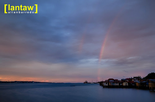 Mactan Strait Sunset Rainbow