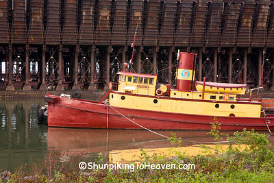 The Edna G Tugboat at the Ore Docks, Two Harbors, Minnesota