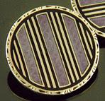 Krementz lavender guilloche enamel cufflinks. (J9242)