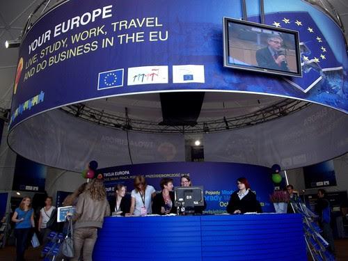 Namiot europejski na Rynku Głównym