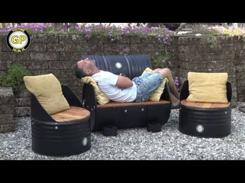 DIY CHAIRS and SOFA with 200 LITERS BINS - Fai da Te by Gianni Pirola