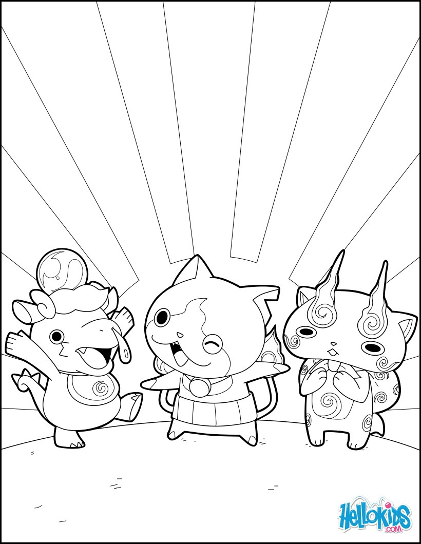 Happy Yokai Watch Monsters Coloring Pages Hellokidscom