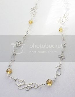 citrine and silver - silver moss jewellery
