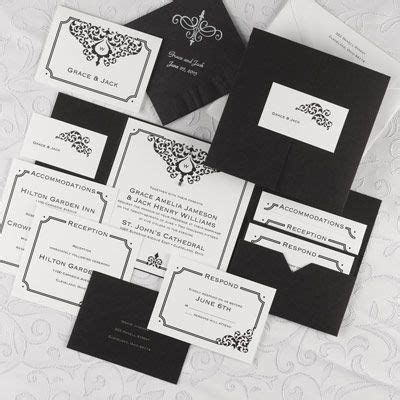 17 Best images about Black Accented Wedding Invitations on