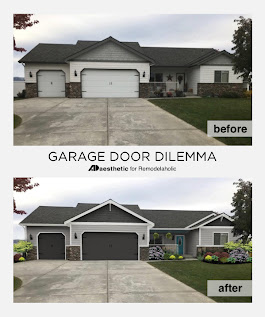 Remodelaholic | Real Life Rooms: Garage Door Curb Appeal Dilemma