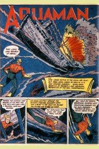 More Fun #76 Aquaman Splash Page