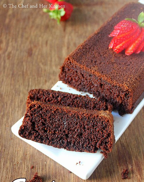 Eggless Wholewheat Chocolate Cake Recipe