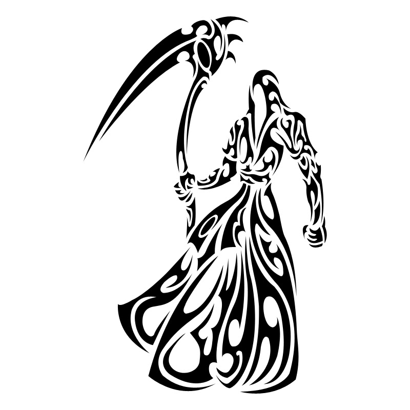 Tribal Grim Reaper Tattoo Designs Clip Art Library