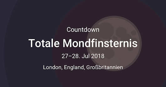 Totale Mondfinsternis Countdown