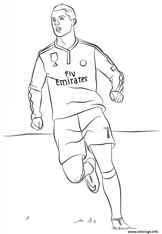 Dessin cristiano ronaldo foot football Coloriage Gratuit  Imprimer