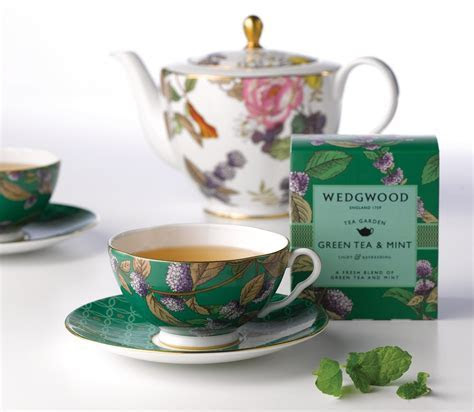 Wedgwood Tea Garden Green Tea & Mint 3 Piece Set