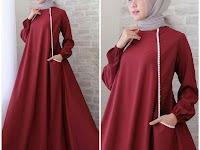 Kerudung Yang Cocok Untuk Baju Warna Burgundy