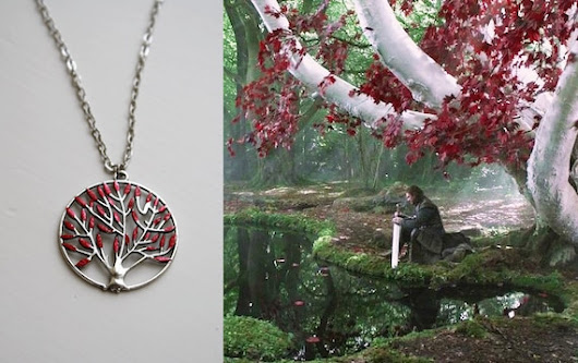 Heart Tree Necklace Game of Thrones Jewellery by BijouxMalou