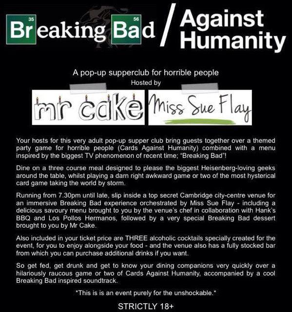 Breaking Bad Against Humanity