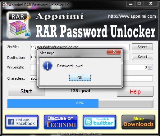 download rar password recovery full version