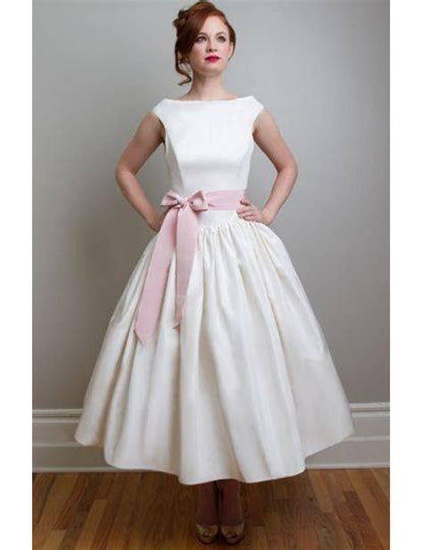 Tea Length Country Style Wedding Dress Promotion Shop For