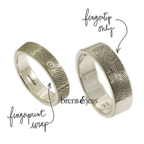 Personalized Fingerprint Wedding Bands from Brent & Jess