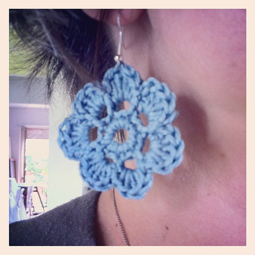 Time for crocheted earings for summer:) il momento degli orecchini all'uncinetto per l'estate:)