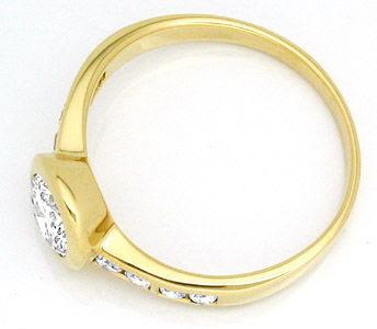 Foto 3, Neu! Spitzen-Solitär-Brillant-Ring 18K Luxus! Portofrei, S8315