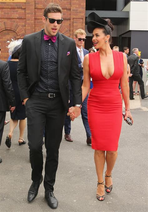 shaun hampson  megan gale  melbourne cup