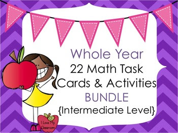Whole Year Math Task Cards and Activities {22 Products - I