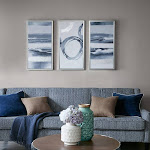 Buy Grey Surrounding Printed Frame Canvas With Gel Coat And Silver Foil 3 Piece Set at easyhomelinks
