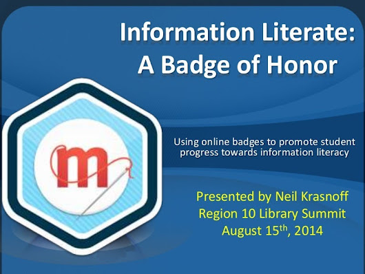 Information literate: A Badge of Honor