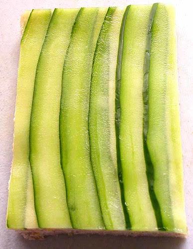 cucumber sandwich prep 2