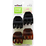 Scunci No-Slip Grip Jaw Clips - 4 clips