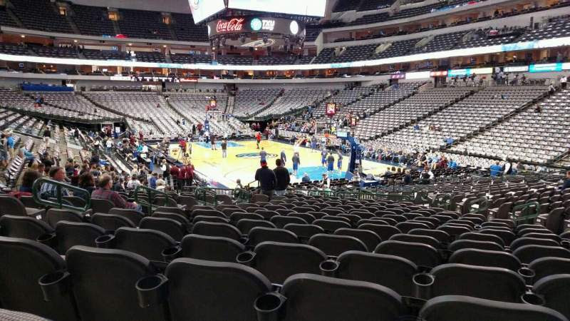 American Airlines Center Section 114 Home Of Dallas