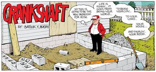 Crankshaft comic by Batiuk & Ayers, 11/27/2011, aging