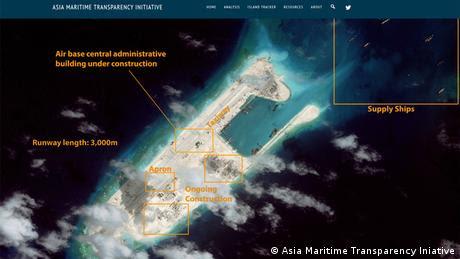 Satelitenaufnahmen Spratly-Inseln Asia Maritime Transparency Iniative