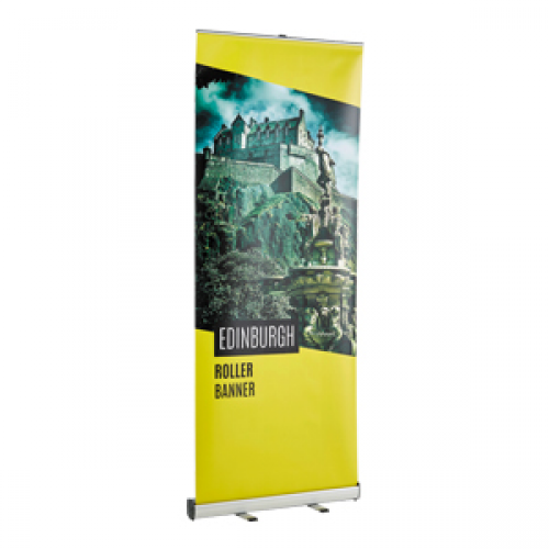 Budget Roller Banner Stand and Poster | Flyerzone