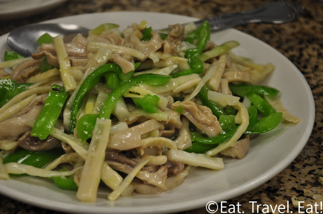 Pigs Stomach with Green Peppers