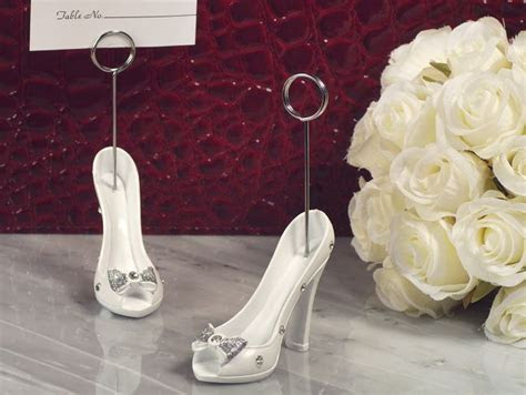 Belle Of The Ball Dazzling Shoe Design Place Card Holder
