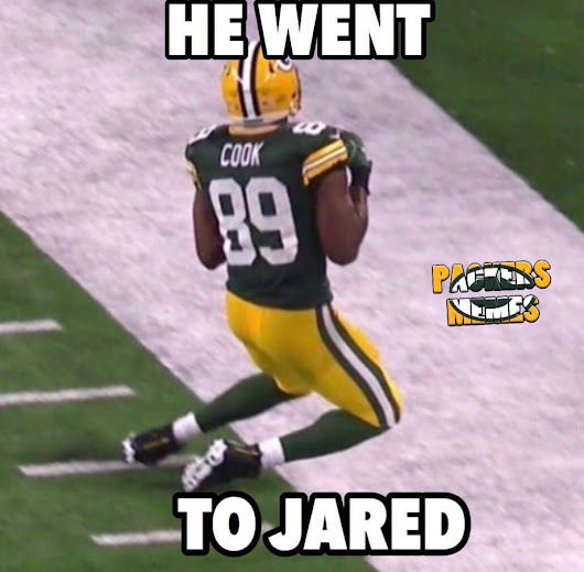 He went to Jared! #GoPackGo #RunTheTable
