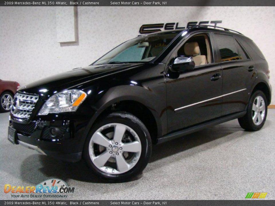 2009 Mercedes-Benz ML 350 4Matic Black / Cashmere Photo #1 ...