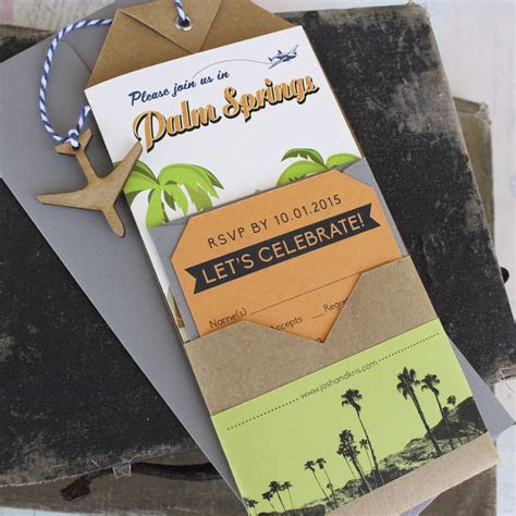 Travel Brochure Wedding Invitation (Palm Springs, CA)
