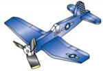 Corsair F-4U Airplane Weathervane Whirligig Woodworking Plan - fee plans from WoodworkersWorkshop® Online Store - airplane,aeroplane,whirligigs,whirlygigs,weathervanes,full sized patterns,woodworking plans,woodworkers projects,blueprints,drawings,blueprints,how-to-build,MeiselWoodHobby