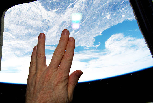 Astronaut Salutes Nimoy From Orbit