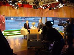 At TV studio