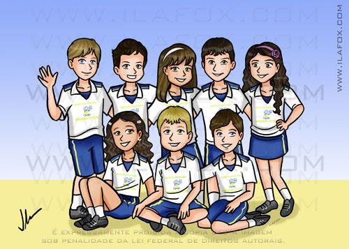 caricatura formandos, escola infantil,