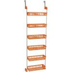 Household Essentials - 6-Basket Over-The-Door Organizer - Orange
